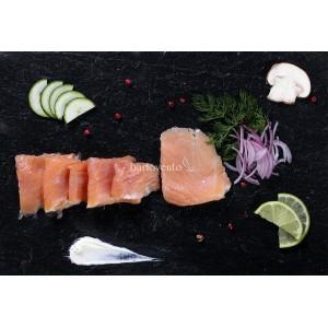 Salmon ahumado en fetas