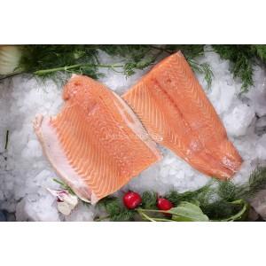 Filet de salmón rosado fresco (con piel)